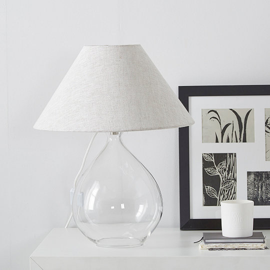 Cranley glass teardrop table lamp table lamps the white company uk cranley glass teardrop table lamp aloadofball Images