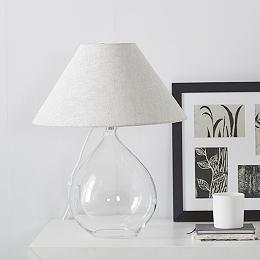 Cranley Glass Teardrop Table Lamp