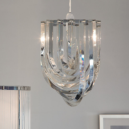 Deco chandelier light shade lighting the white company uk deco chandelier light shade mozeypictures Choice Image