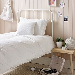 Daisy Embroidered Bed Linen