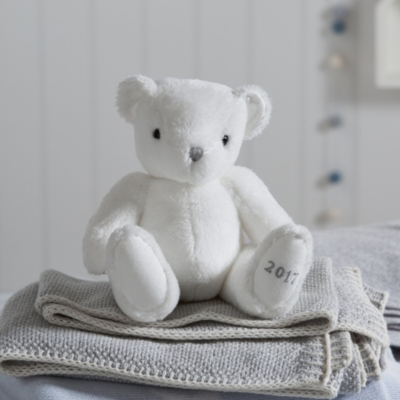 Image of 2017 Little White Dated Bear Toy