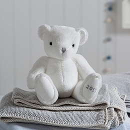 2017 Little White Dated Bear Toy