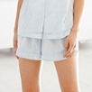 Detailed Cotton Pajama Shorts