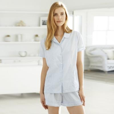 Detailed Cotton Pajama Shorts