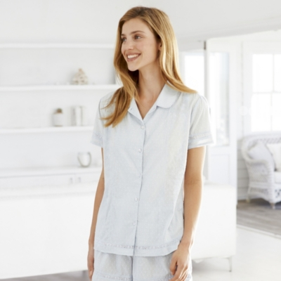 Detailed Cotton Pajama Top