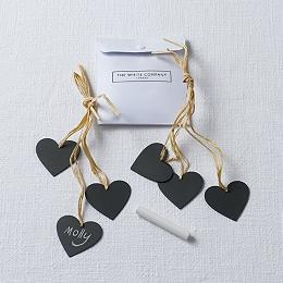 Heart Napkin Ties - Set of 6
