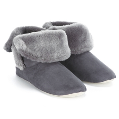 Double Fold Down Boot Slippers  - Dusk