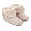 Double Fold Down Boot Slippers  - Pale Pink