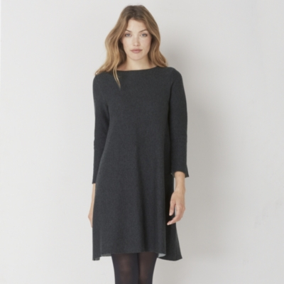 Contrast Lined Knitted Dress