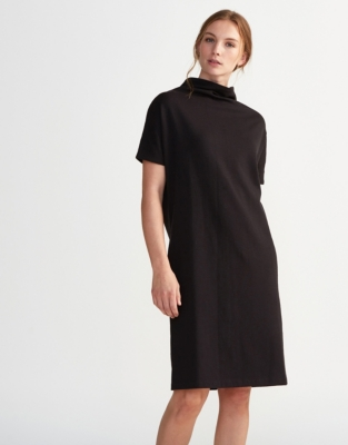 Double-Faced Raised Neck Dress