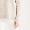 Diagonal Stitch Sweater - Biscuit