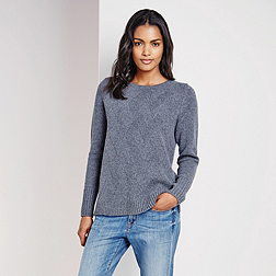 Diagonal Stitch Jumper - Grey Marl