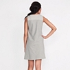 Diagonal Stripe Yoke Nightdress - Silver Gray Marl