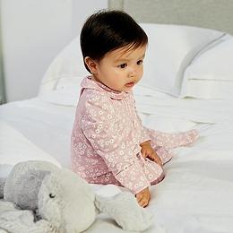 Daisy Print Collared Sleepsuit