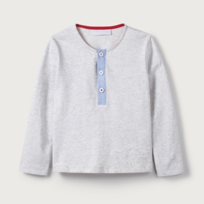 Dinosaur Embroidered T-Shirt - The White Company