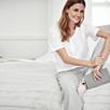 Drawstring Jersey Pajama Bottoms - Silver Gray