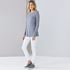 Double Layer Wool Mix Tee - Mid Grey