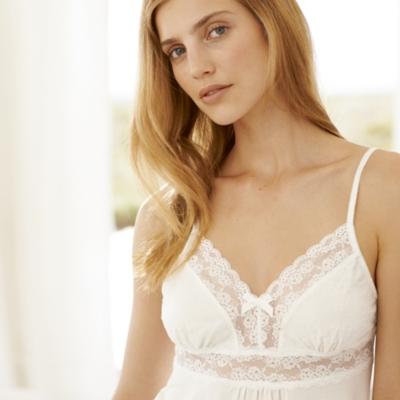 Dot Mesh and Lace Pajama Set