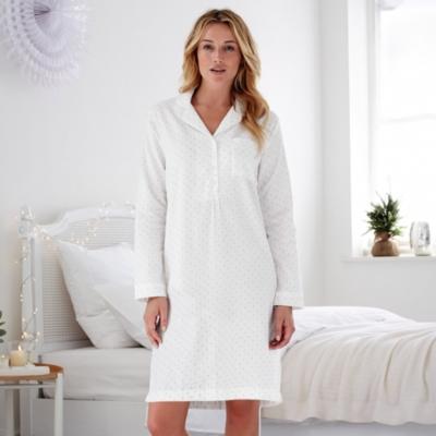 Dot Flannel Nightshirt