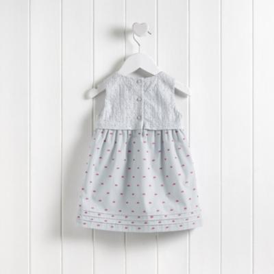 Dobby Folded Waist Dress
