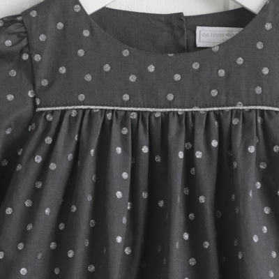 Dotty Lace Trim Dress