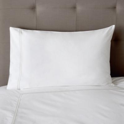Double Row Cord Housewife Pillowcase - White