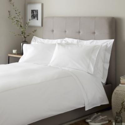 Double Row Cord Duvet Cover & Pillowcase Set - White