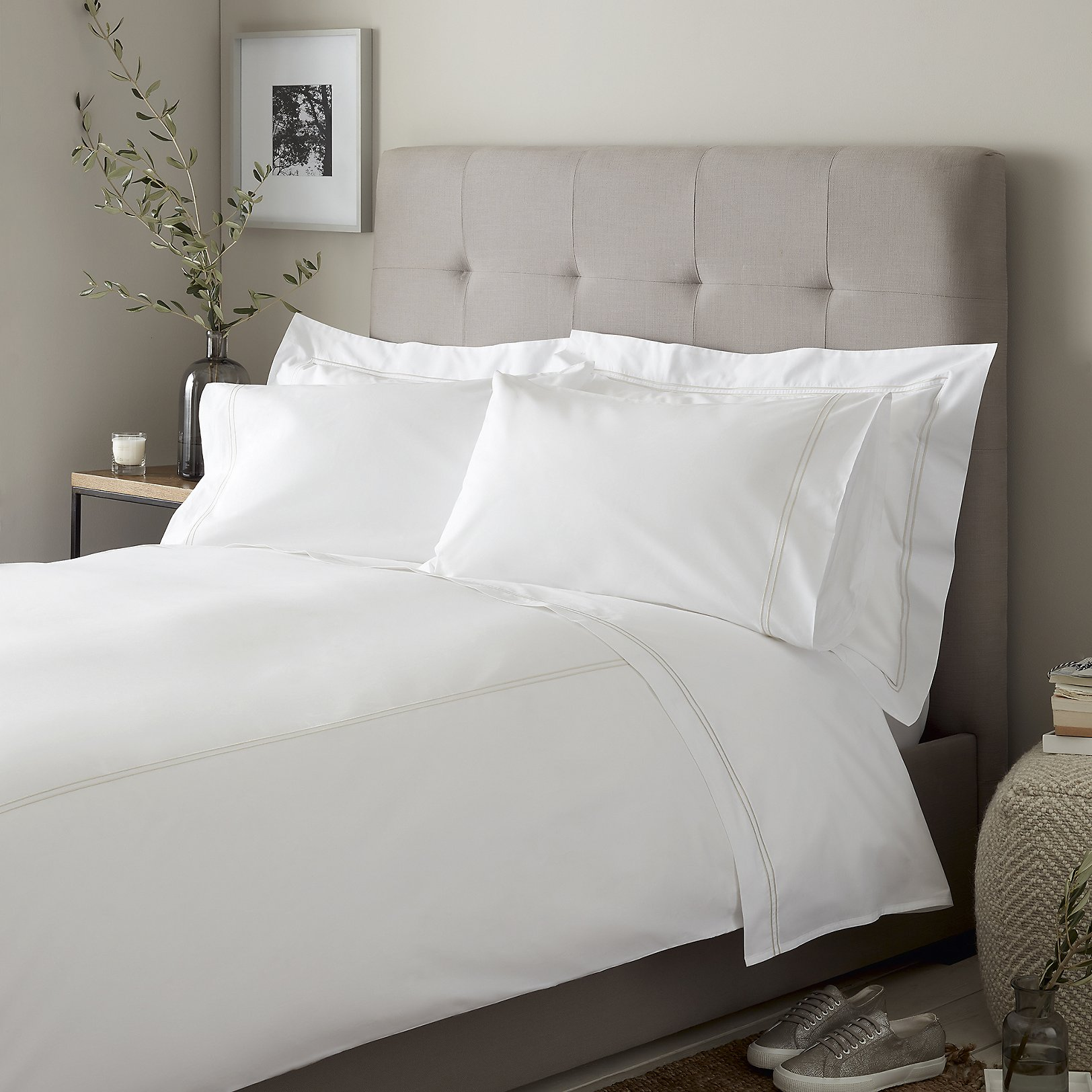 white single bed sheets