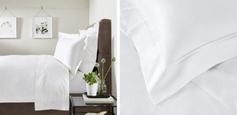 Double Row Cord Bed Linen Set - White
