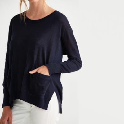 Linen Boat Neck Sweater