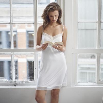 Jersey Polka Dot Print Nightgown