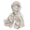 Drop Print Silk Scarf - Rose