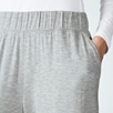 Deep Waistband Pull-On Pants - Pale Gray Marl