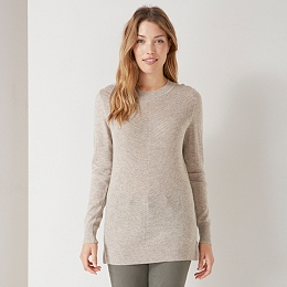 Cashmere Mix Diagonal Stitch Sweater