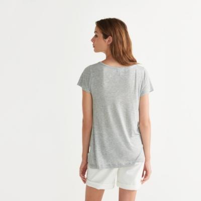 Drape Swing T-Shirt - SilverGrayMarl
