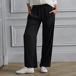 Wide Leg Draped Pants