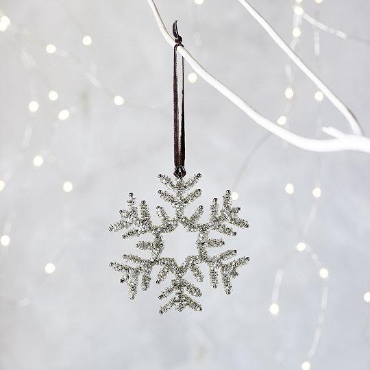 beaded snowflake christmas decoration