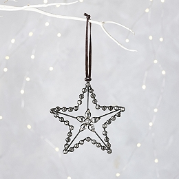 Jewelled Large Star Christmas Decoration