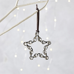 Jewelled Small Star Christmas Decoration