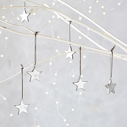 Mini Star Christmas Decorations – Set of 6