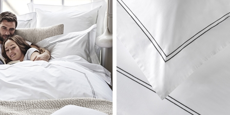 Dulwich Bed Linen Collection - Charcoal