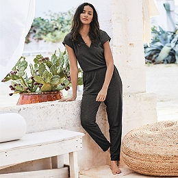 Double V Jersey Jumpsuit