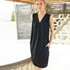 Deep V Sleeveless Dress