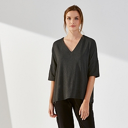 Drape V-Neck Top