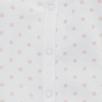 Dotty Velour Sleepsuit - White