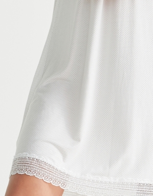 Lace Trim Polka Dot Nightgown