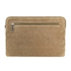 Double Zip Suede Pouch