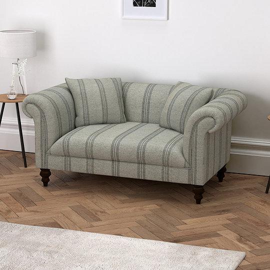 Striped Sofas Living Room Furniture Inside Earlsfield Stripe Sofa Sofas Armchairs The White Company Uk
