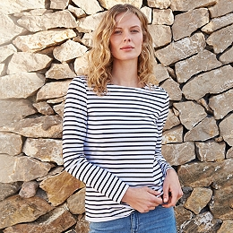 Essential Breton Stripe T-Shirt - White Navy