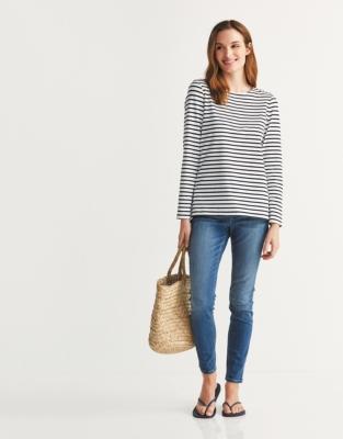 Essential Breton Stripe T-Shirt - White Navy